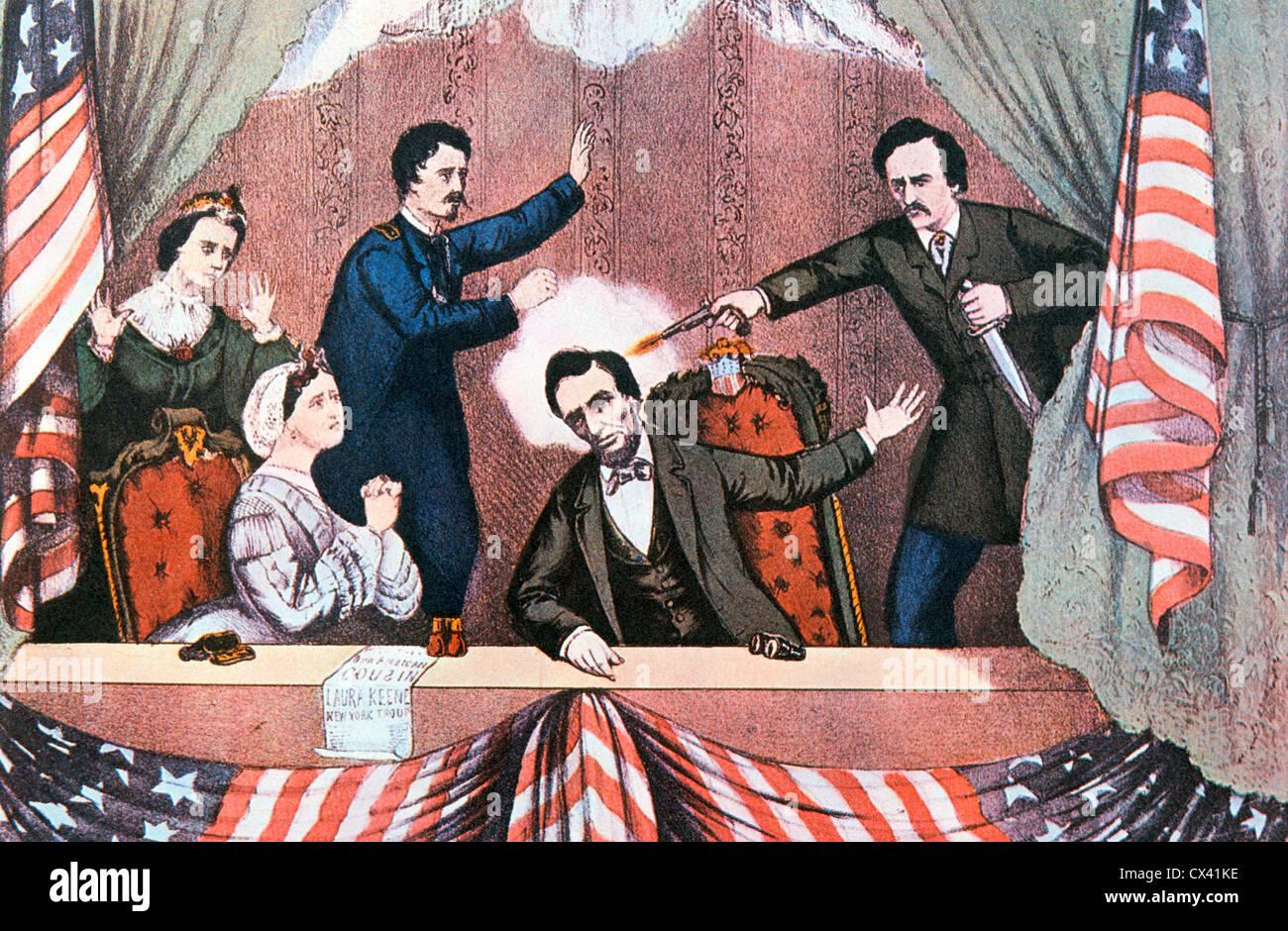 Assassination of President Abraham Lincoln by John Wilkes ...  Abraham