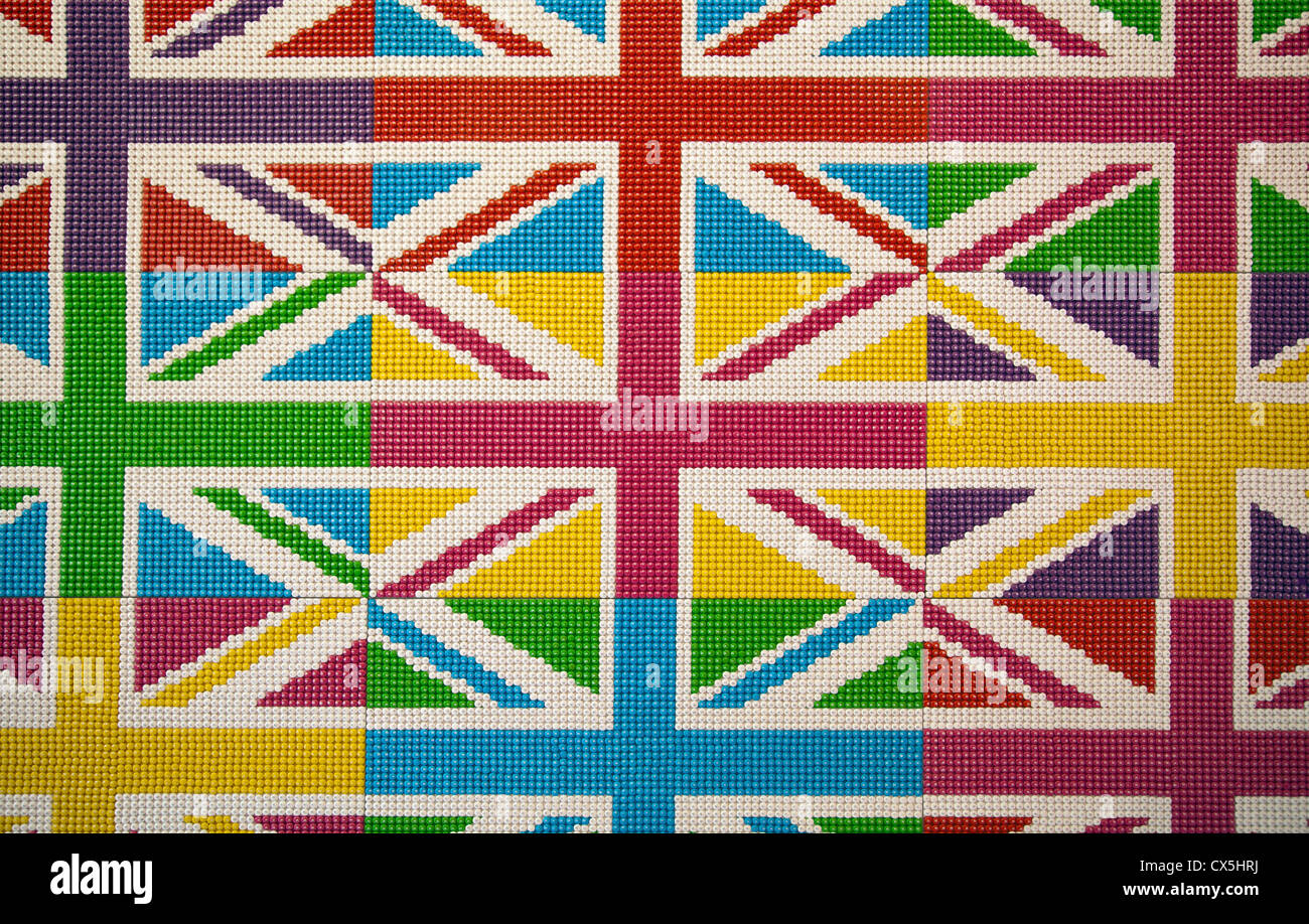 M&Ms laid out in Union Jack design at M&M World in Leicester Square ...