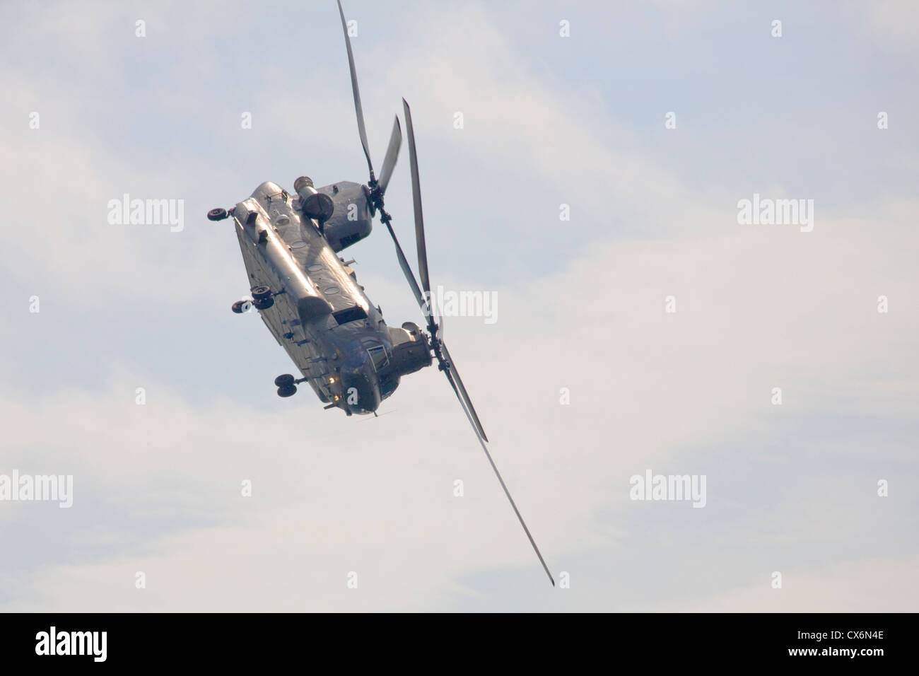Chinook display at the Bournemouth airshow 2012 - Stock Image