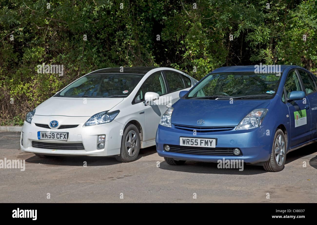 Toyota Prius electric hybrid car UK - Stock Image