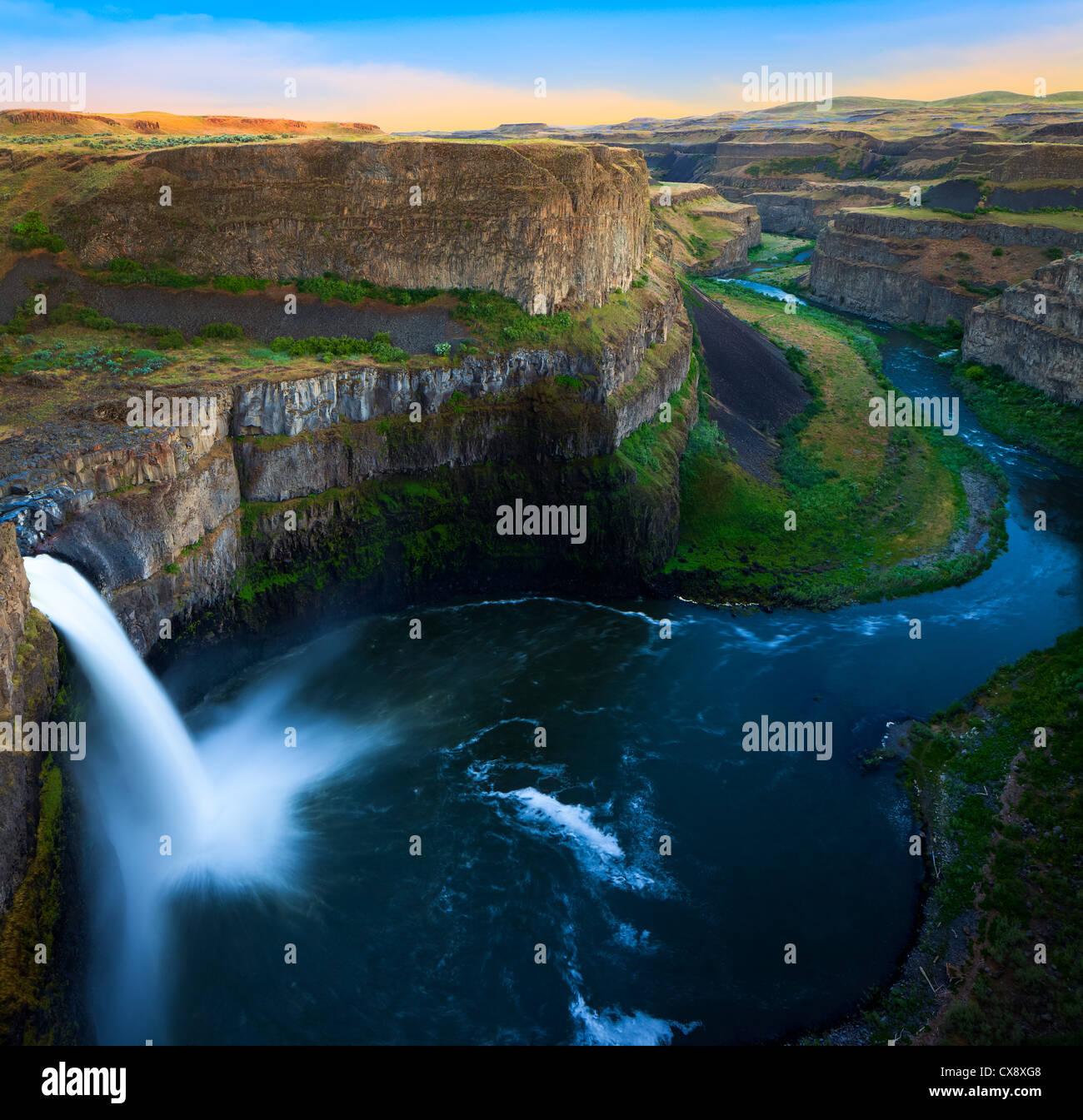 Palouse Falls state park in eastern Washington state, USA - Stock Image
