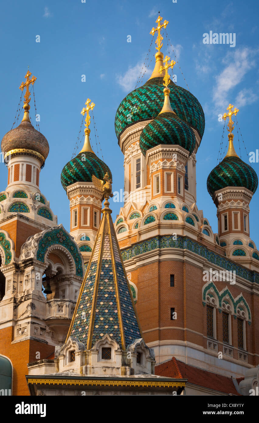 Cathedrale Russe (Russian Cathedral) in Nice, France - Stock Image