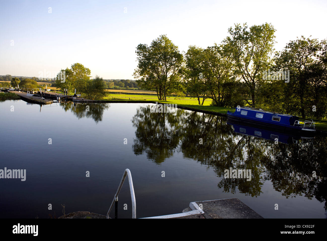 Knowle Locks on, the, Grand Union Canal, Acocks Green, England, UK, British, inland, waterways, canals, English, - Stock Image