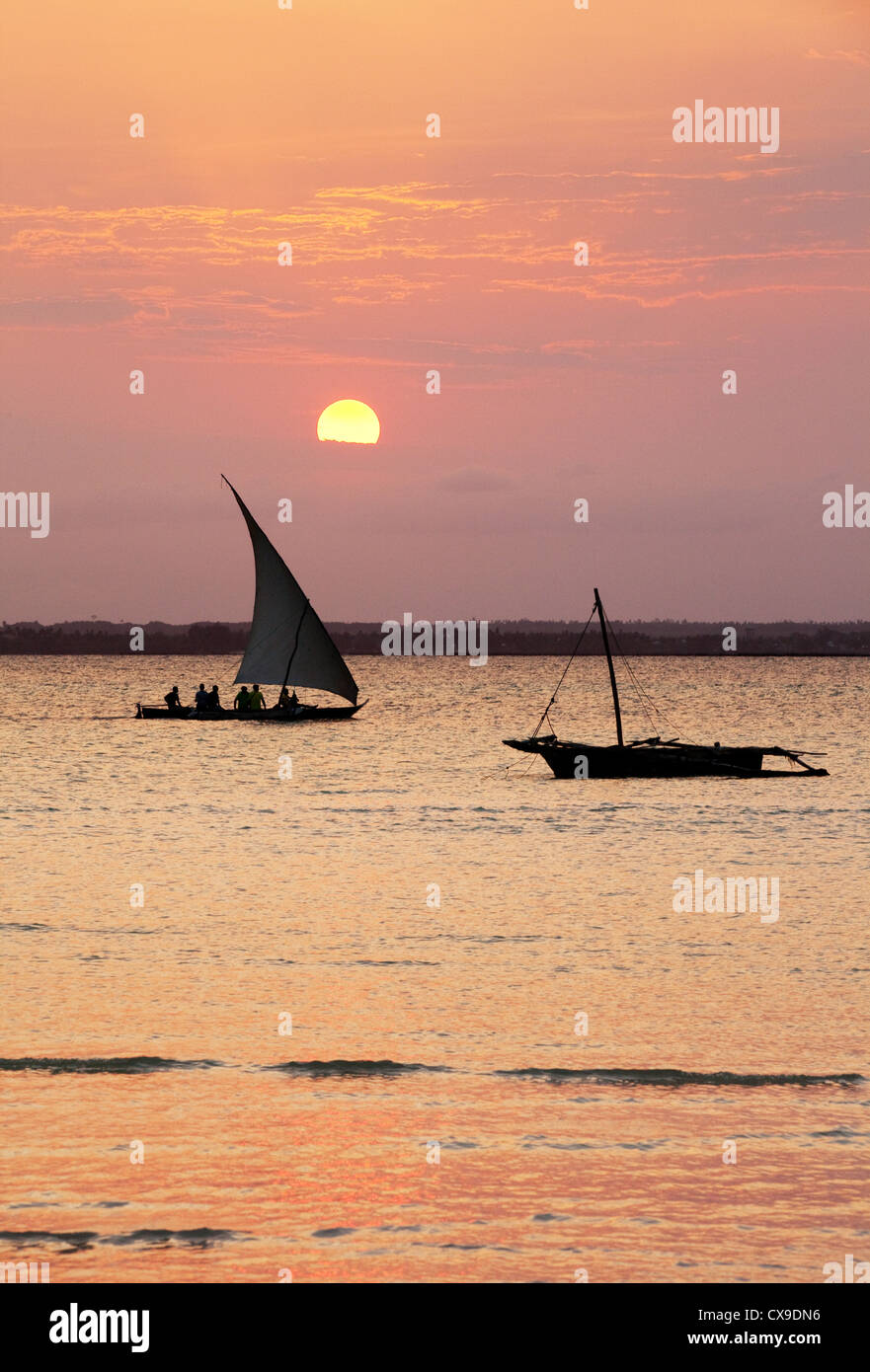 two-dhows-at-sunset-michamwi-zanzibar-af