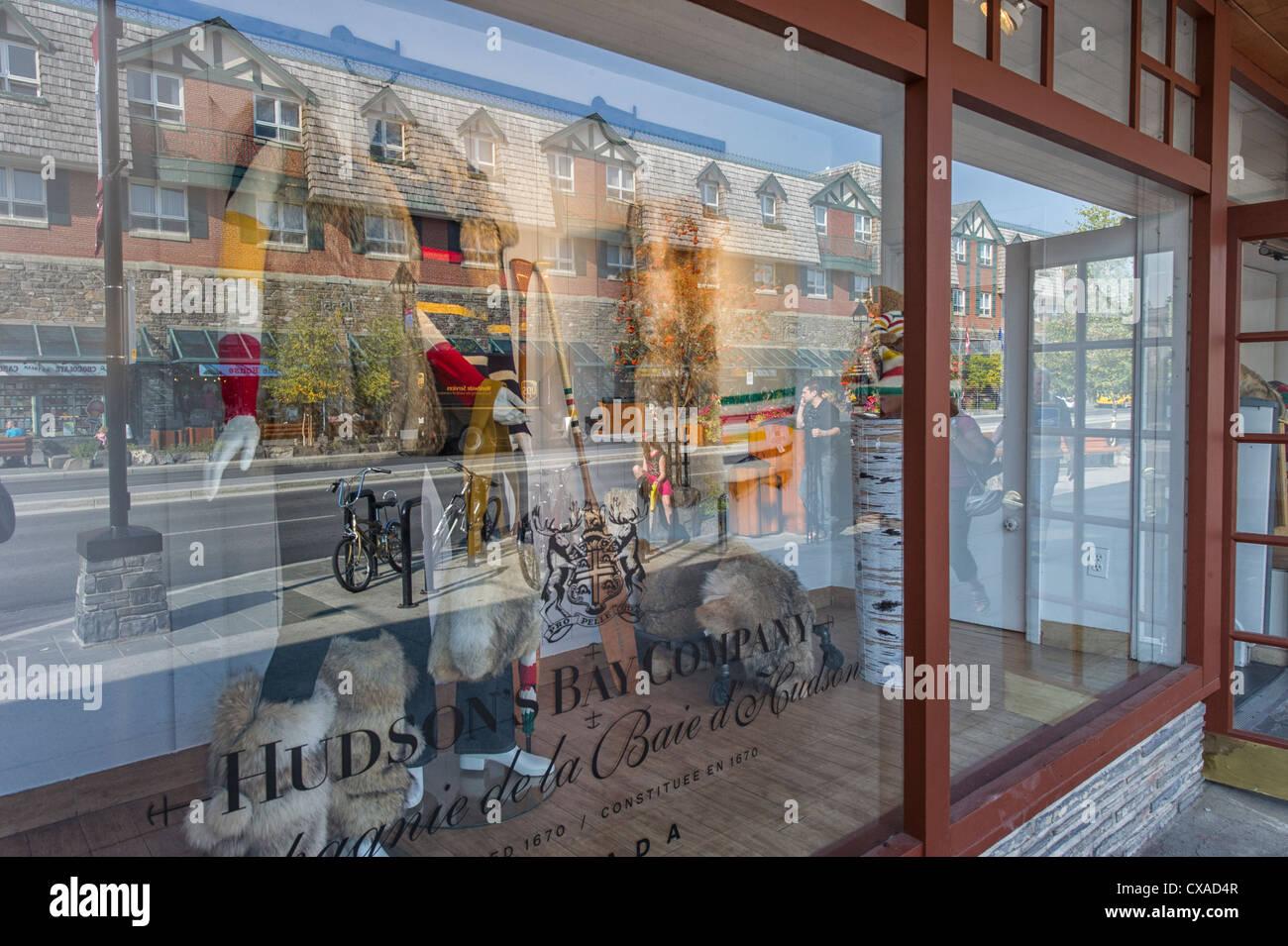 hudson-bay-storefront-window-on-banff-avenue-banff-alberta-canada-CXAD4R.jpg