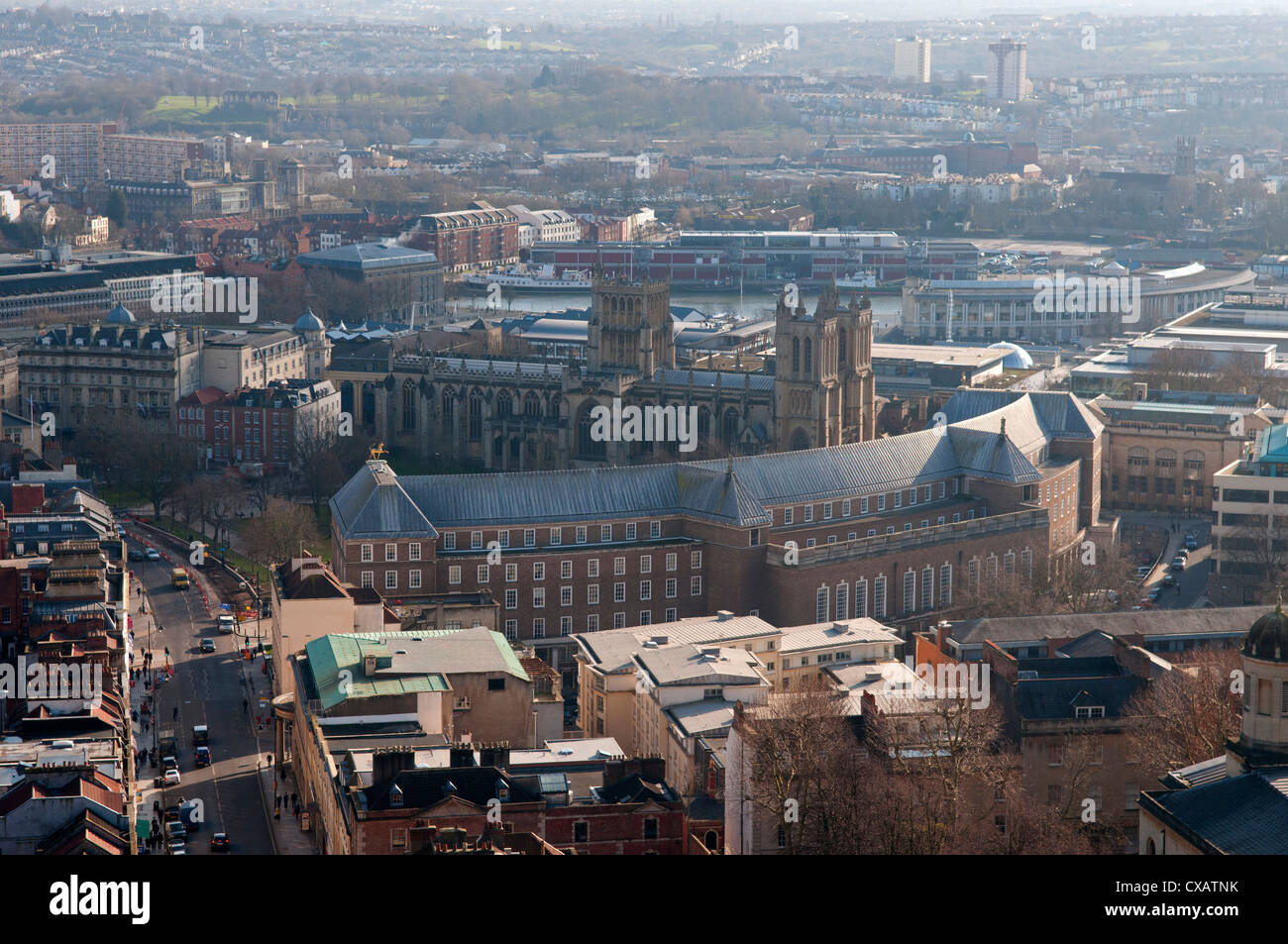Cathedral and harbour, Bristol, England, Great Britain, United Kingdom, Europe - Stock Image