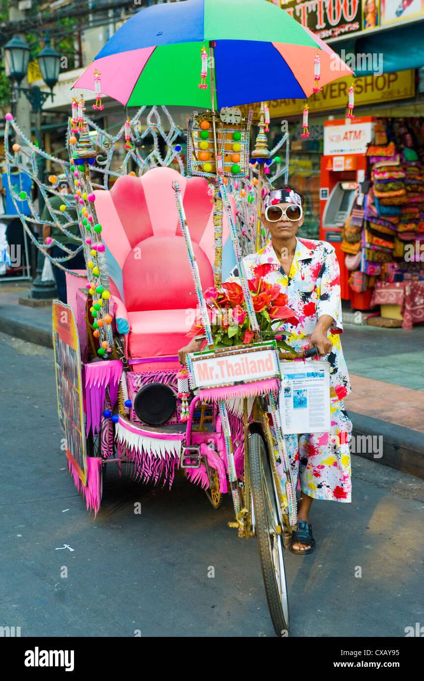 Mr. Thailand, Khaosan Road, Bangkok, Thailand, Southeast Asia, Asia - Stock Image