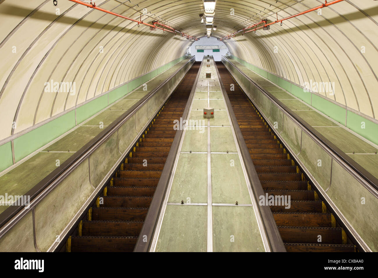looking-up-the-wooden-escalators-of-the-