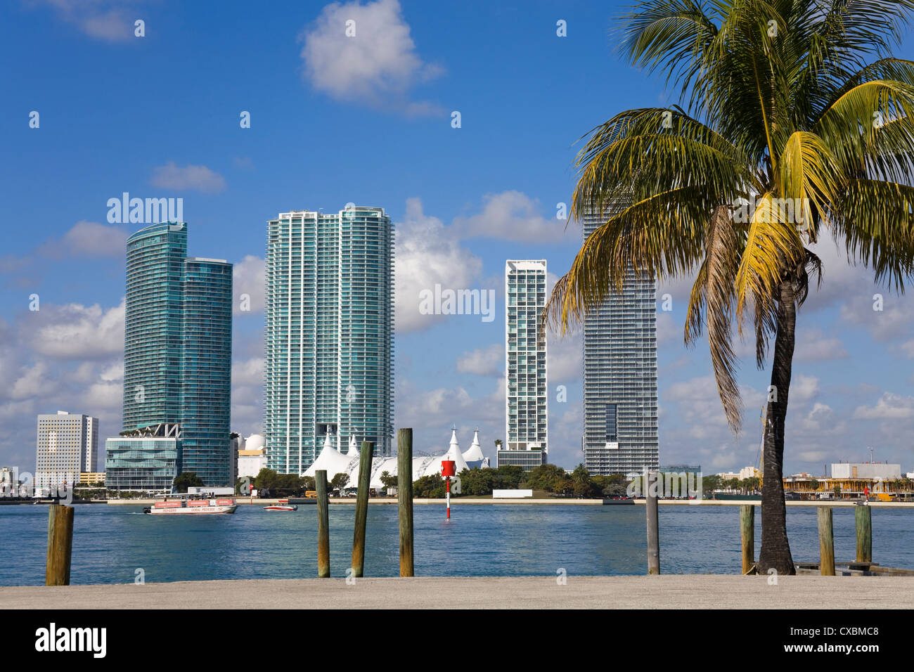 Miami skyline, Florida, United States of America, North America - Stock Image