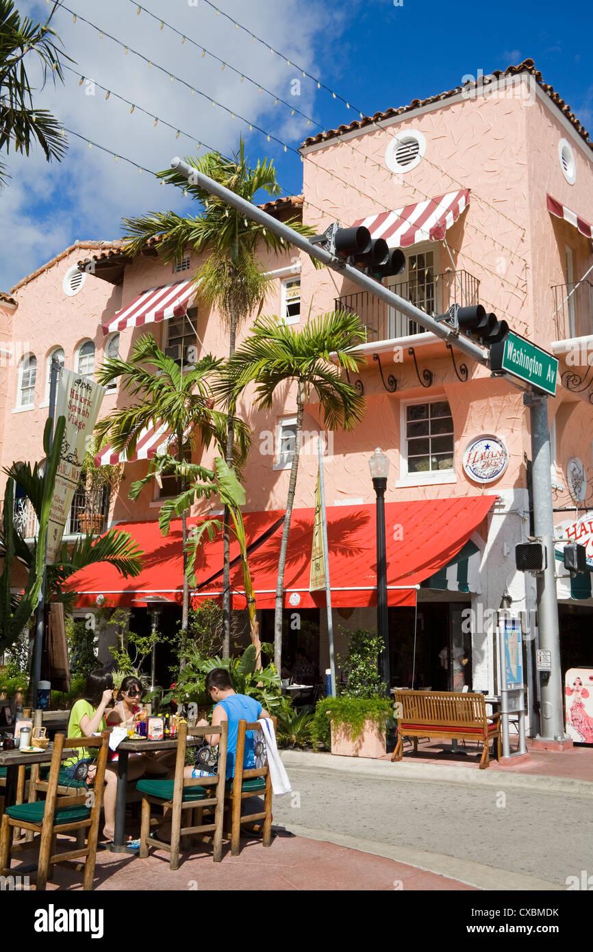 Spanish Village, Miami Beach, Florida, United States of America, North America - Stock Image