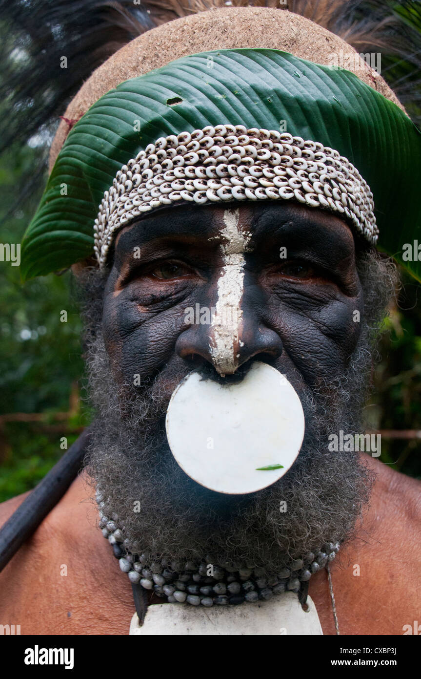 Tribal chief, Pajo, Mount Hagen, Highlands, Papua New Guinea, Pacific - Stock Image