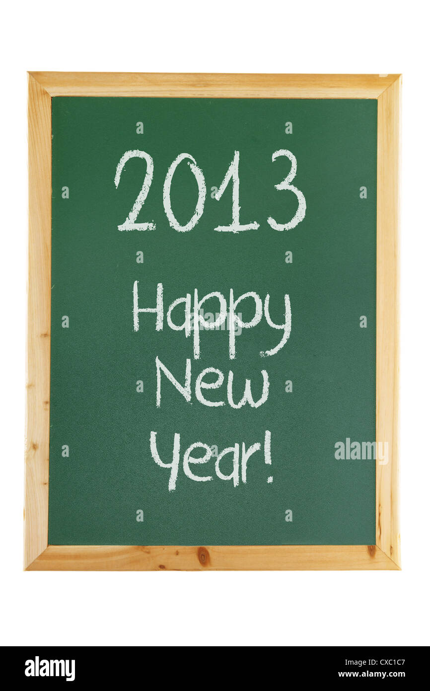 Blackboard With New Year Greetings Stock Photo 50666343 Alamy