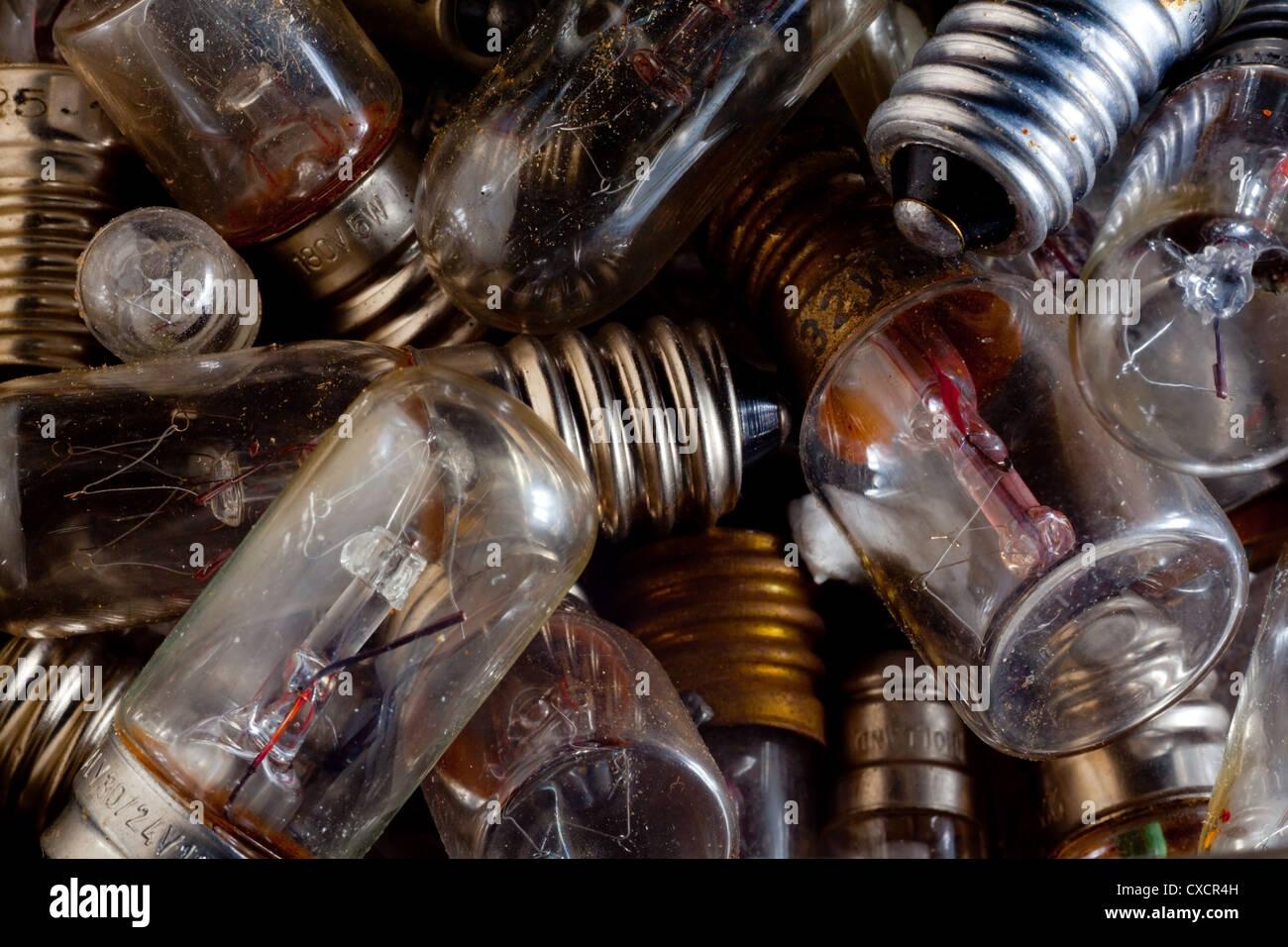 Old lightbulbs - Stock Image