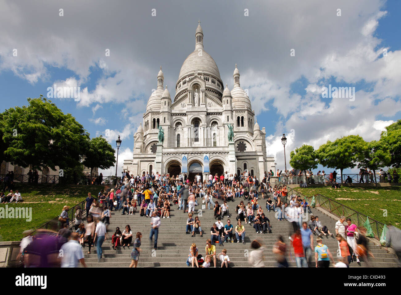 Basilique du Sacre Coeur, Montmartre, Paris, France, Europe - Stock Image