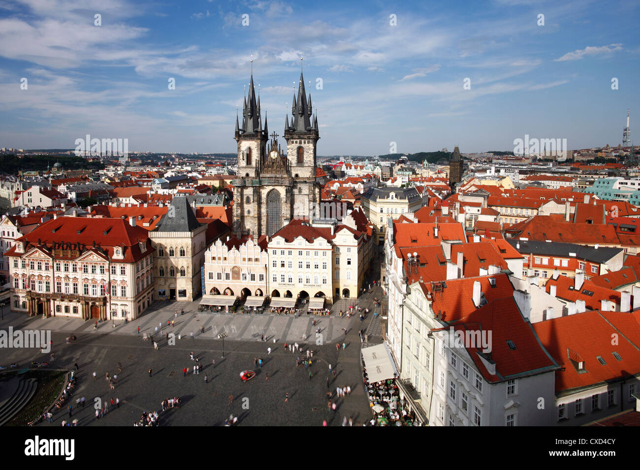 Church of Our Lady before Tyn (Tyn Church) in the Old Town (Stare Mesto), Prague, Czech Republic, Europe - Stock Image