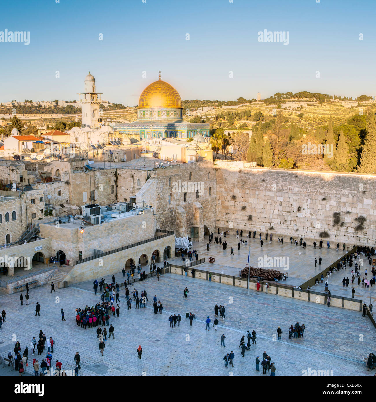 Jewish Quarter of the Western Wall Plaza, Old City, UNESCO World Heritage Site, Jerusalem, Israel, Middle East - Stock Image