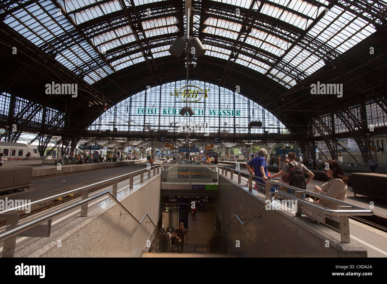 Main train station, Deutsche Bahn AG, Cologne, Germany, Europe - Stock Image