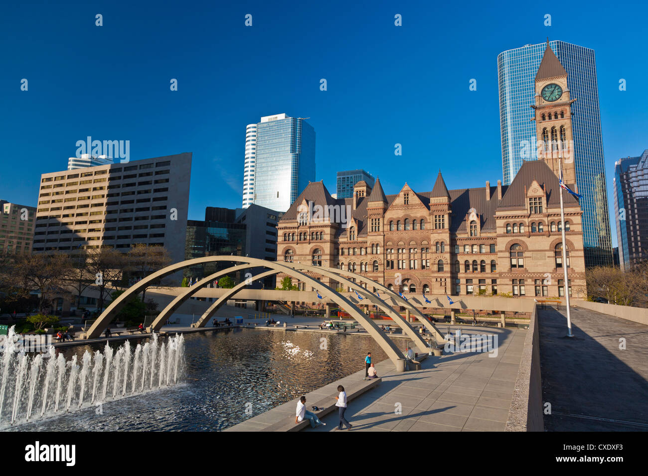 Freedom Arches, Nathan Phiilips Square, in front of City Hall, Toronto, Ontario, Canada, North America - Stock Image