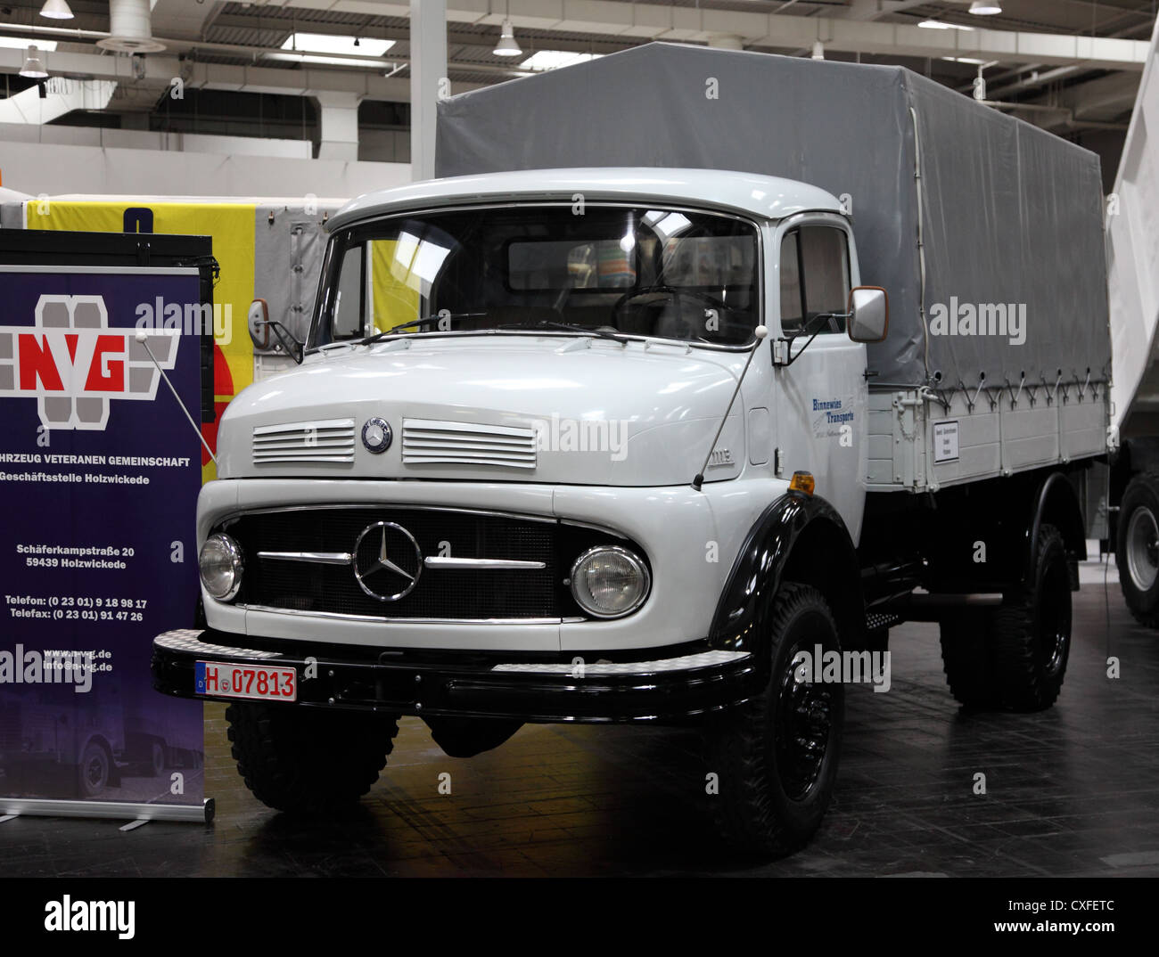Old mercedes truck stock photos old mercedes truck stock for Mercedes benz us international