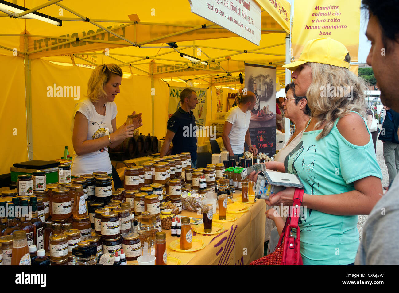 Farmers' Market at Circo Massimo, Rome, Italy. - Stock Image