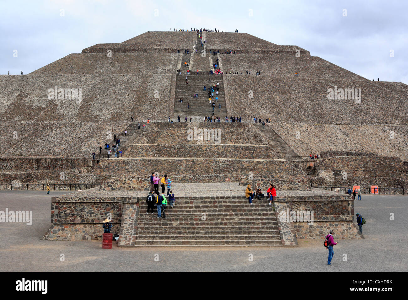 Pyramid of the Sun, Teotihuacan, near Mexico city, Mexico - Stock Image