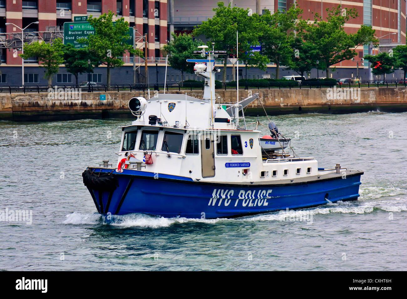 NYPD's Patrol Boat - Stock Image