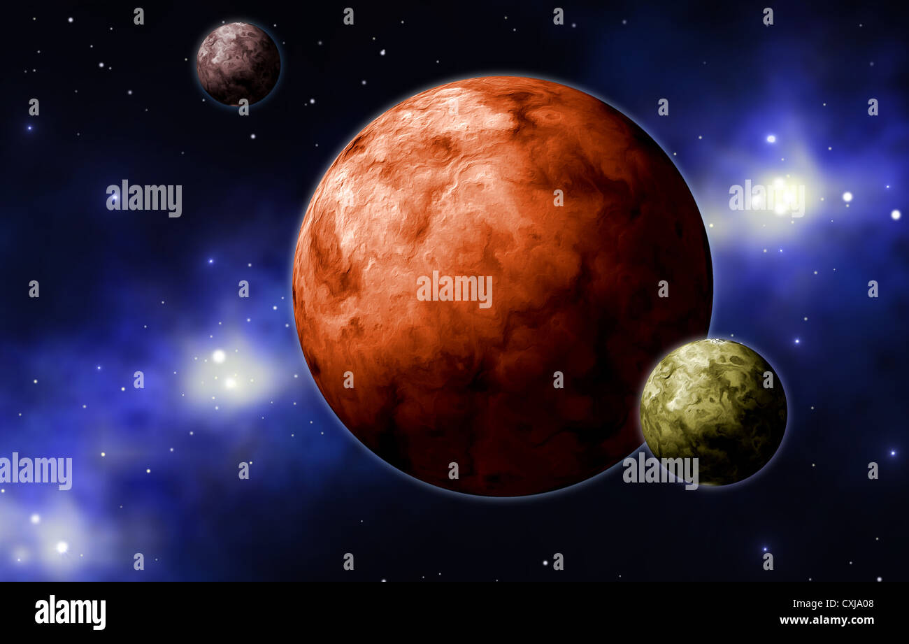 extrasolar planets - Stock Image