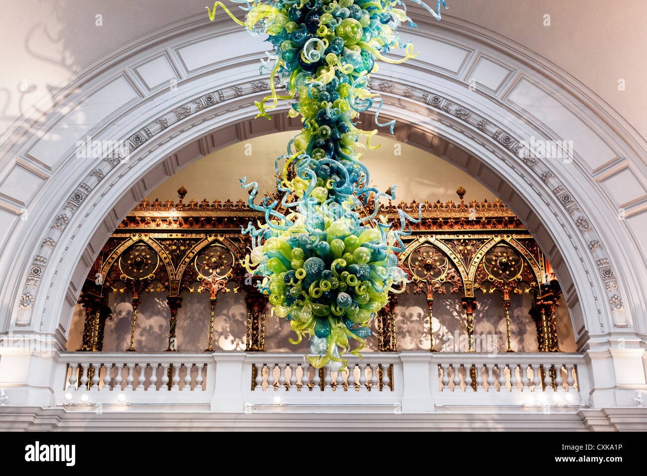 Blown Glass Chandelier By American Artist Dale Chihuly In The Grand Entrance Of Victoria And Albert Museum London