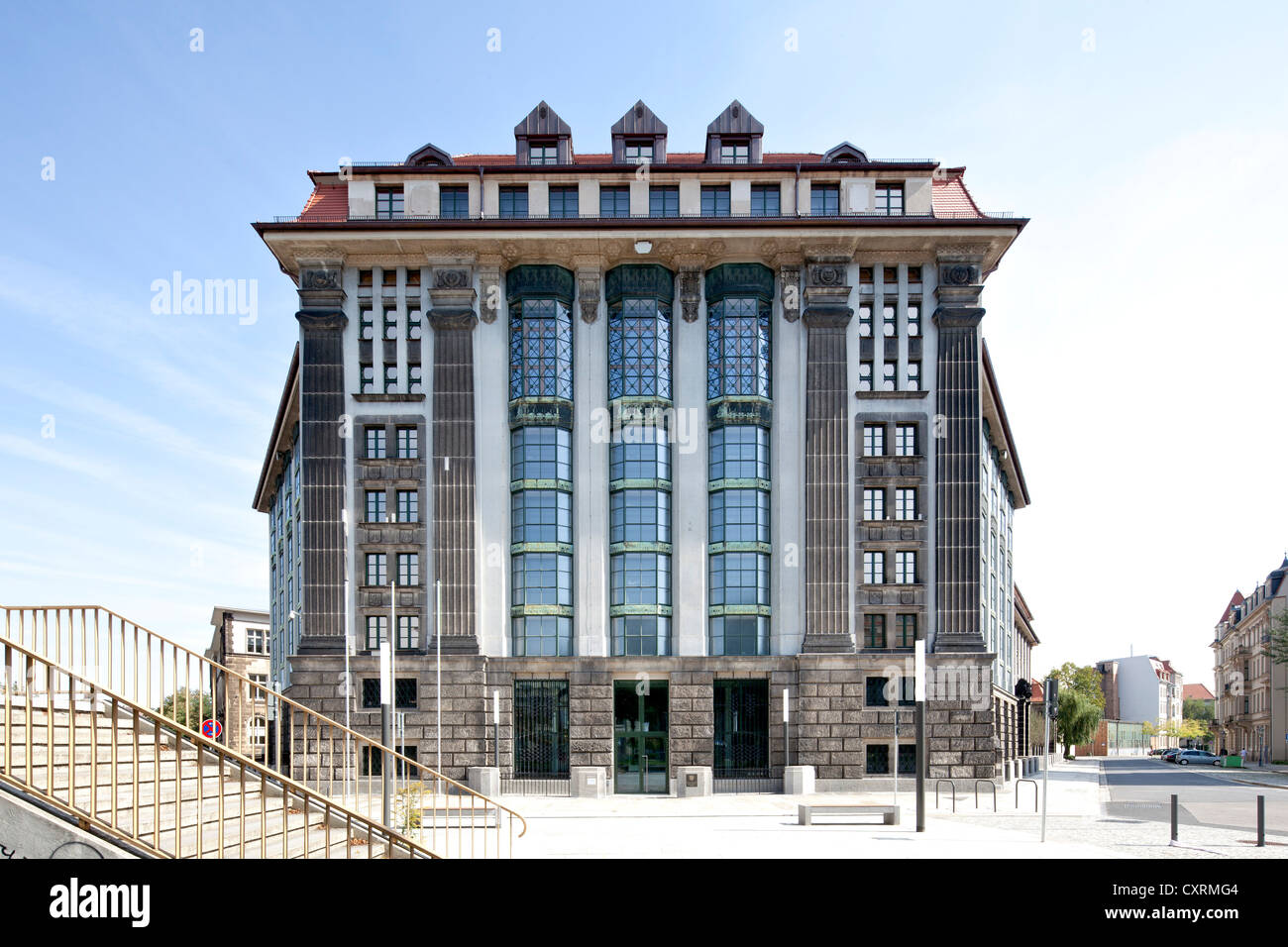 Saxon Main State Archive, Neustadt, Dresden, Saxony, Germany, Europe, PublicGround - Stock Image