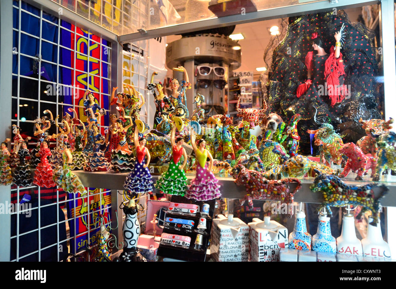 Barcelona's souvenirs made like dragon in Park Guell (Gaudí). - Stock Image