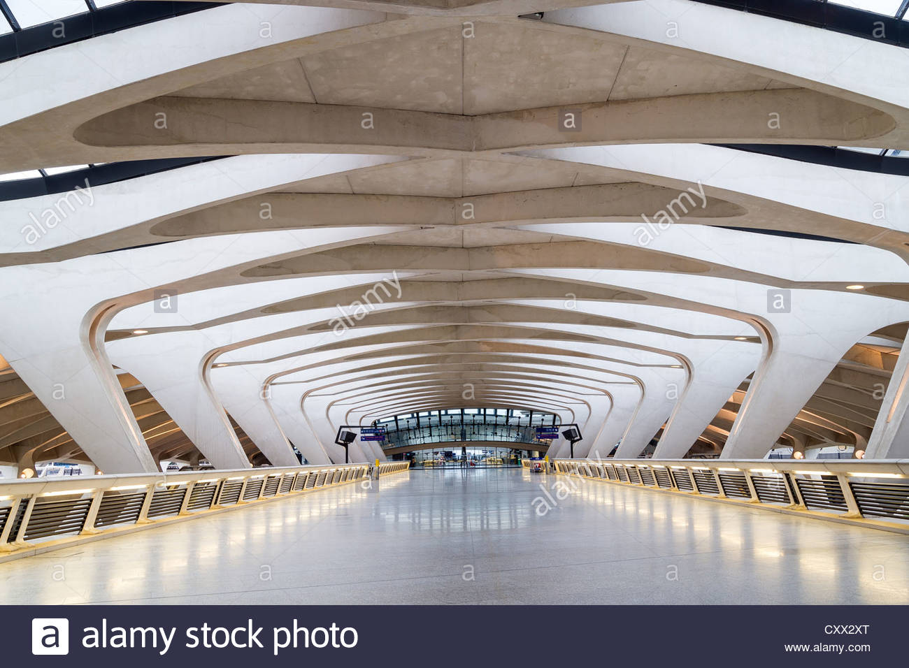 lyon-saint-exupery-airport-train-station-tgv-france-CXX2XT.jpg