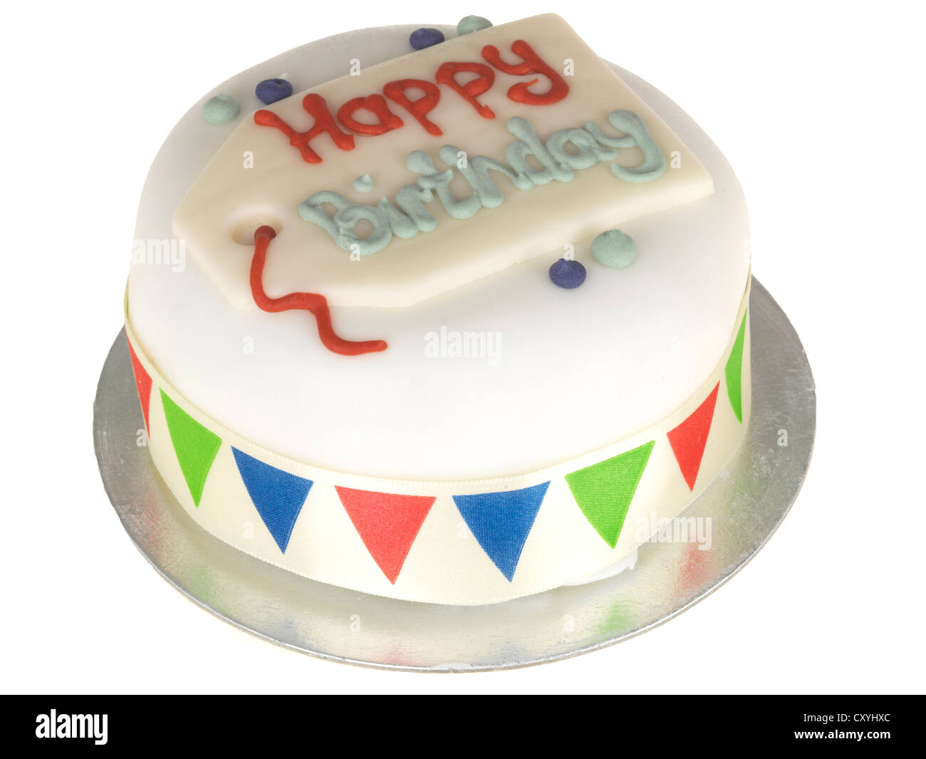Happy Birthday Ceramic Cake Plate