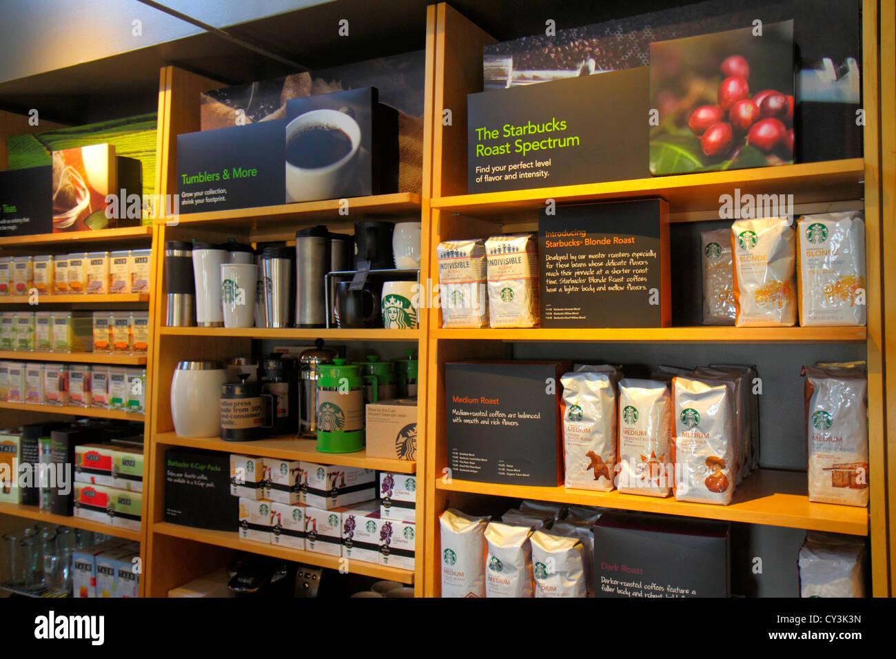 maine freeport main street route 1 starbucks coffee retail display