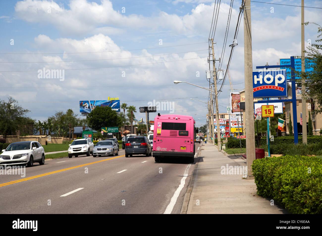 upper international drive orlando florida usa - Stock Image