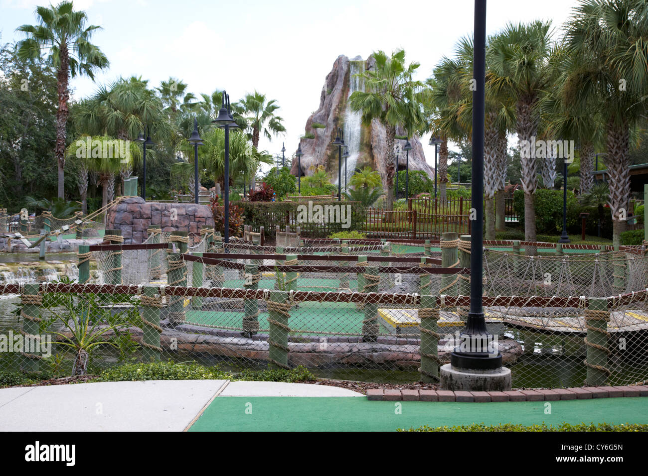 crazy golf course orlando florida usa - Stock Image