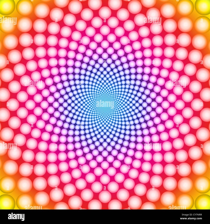 Ring optical illusion background - Stock Image
