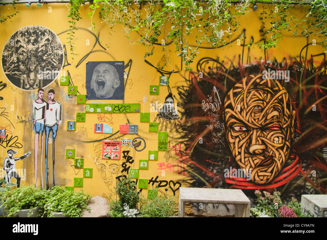 street art, a thriving alternative subculture in Berlin, Germany ...