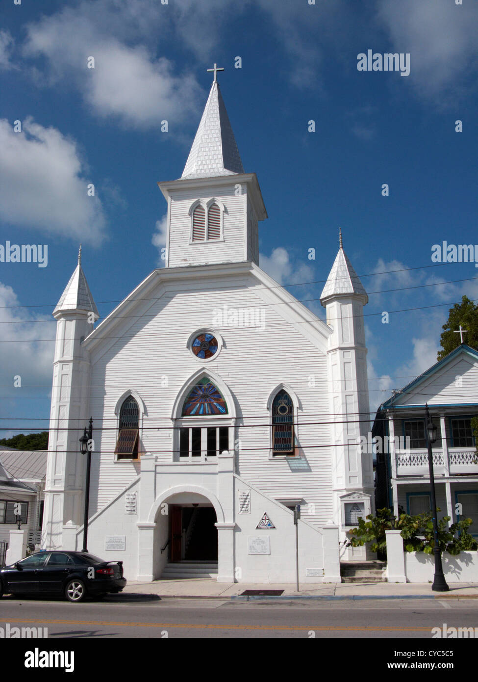 cornish memorial ame african methodist episcopal zion church key west florida usa - Stock Image