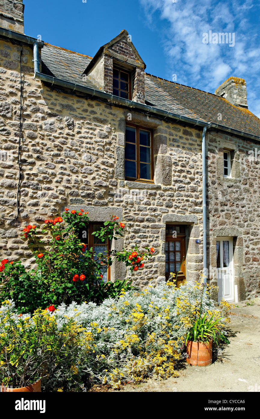 Dwelling at Barfleur, Normandy, France. - Stock Image
