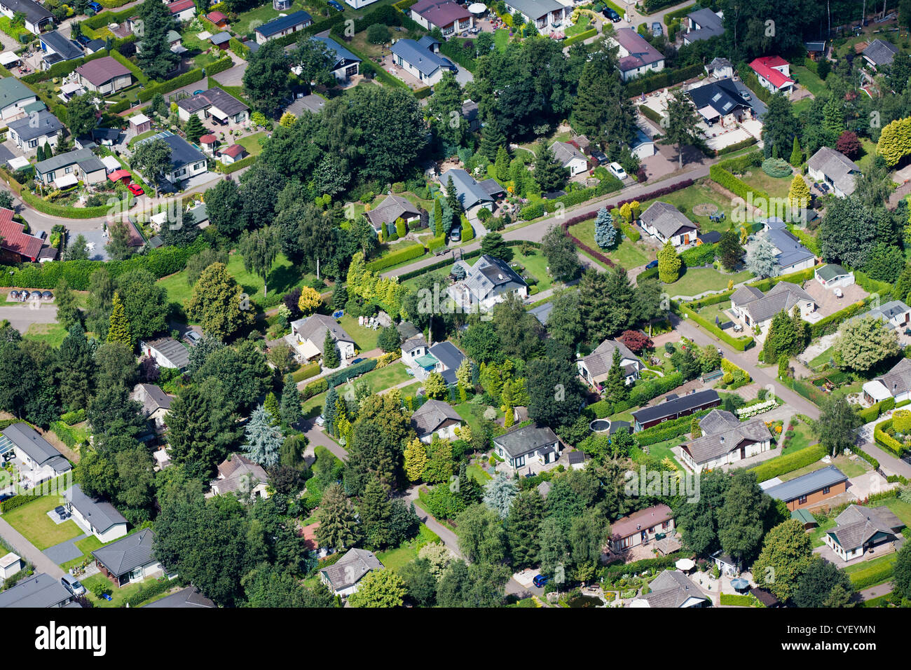 The Netherlands, Stroe. Holiday houses. Aerial. - Stock Image