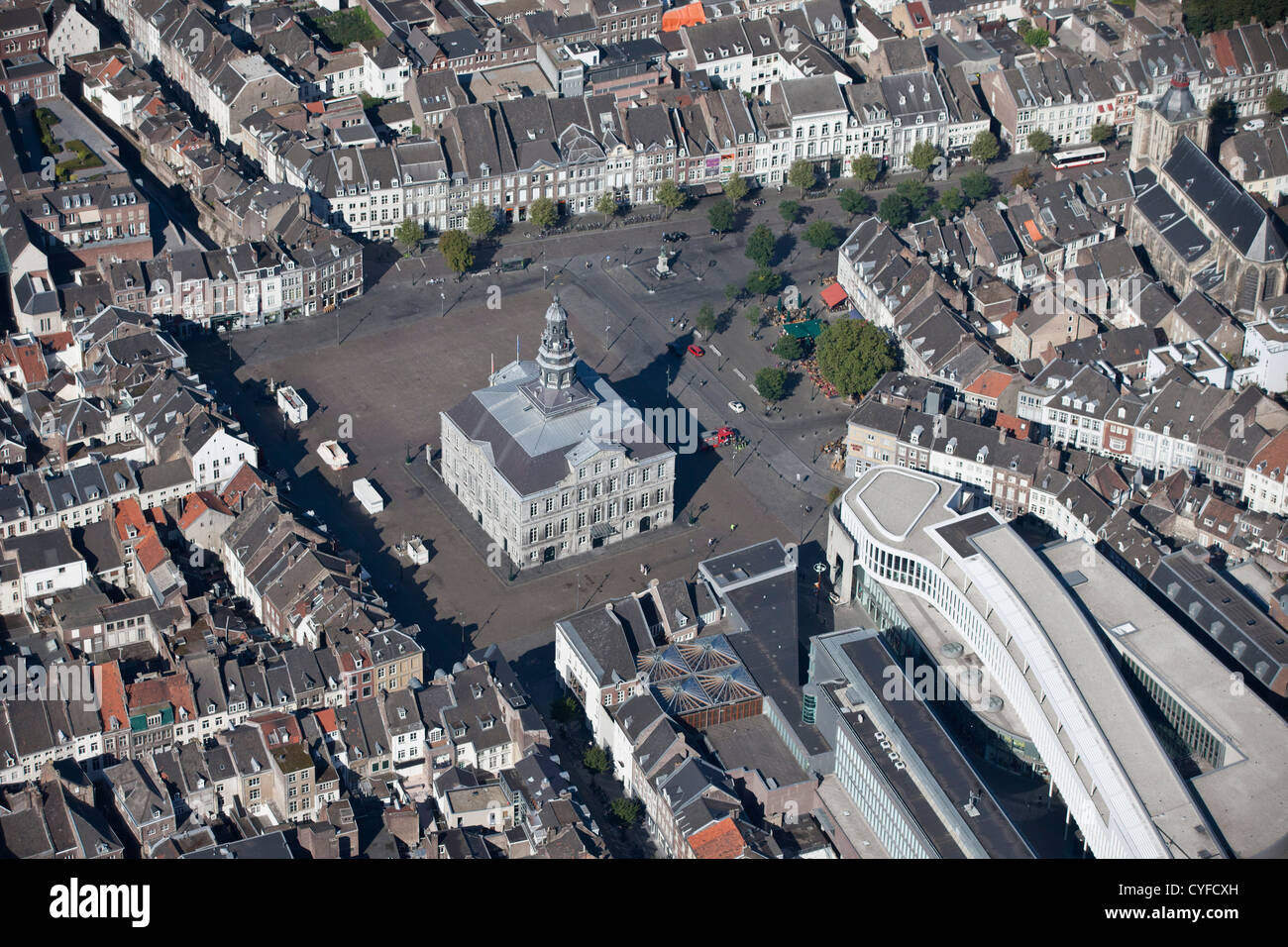 The Netherlands, Maastricht, Townhall. Aerial. - Stock Image