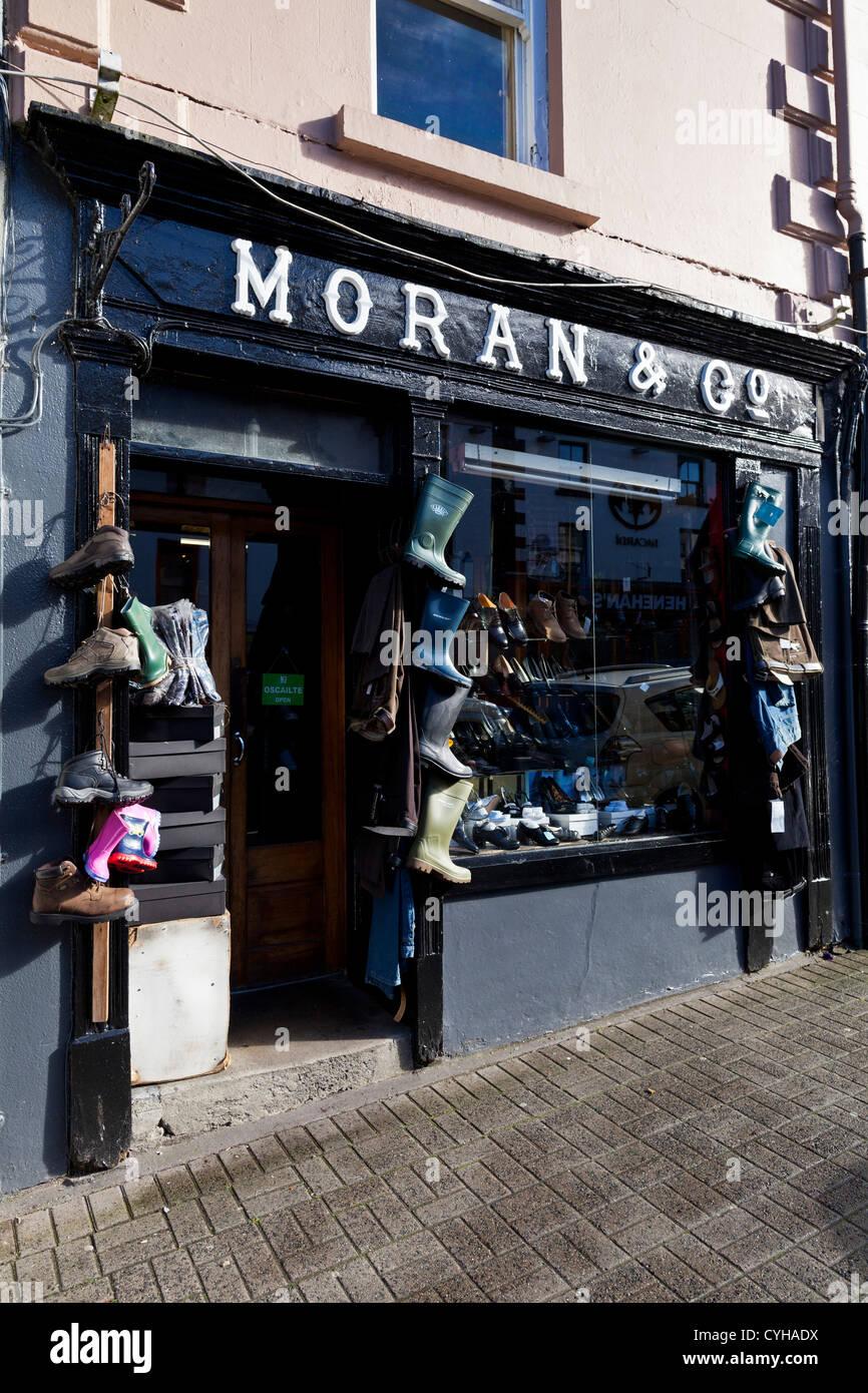 c509732139dc7 Moran shoe shop in Westport County Mayo Ireland Stock Photo ...