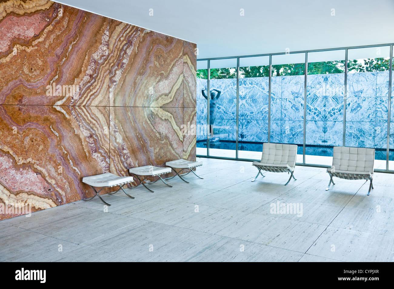 Barcelona Pavilion - Stock Image