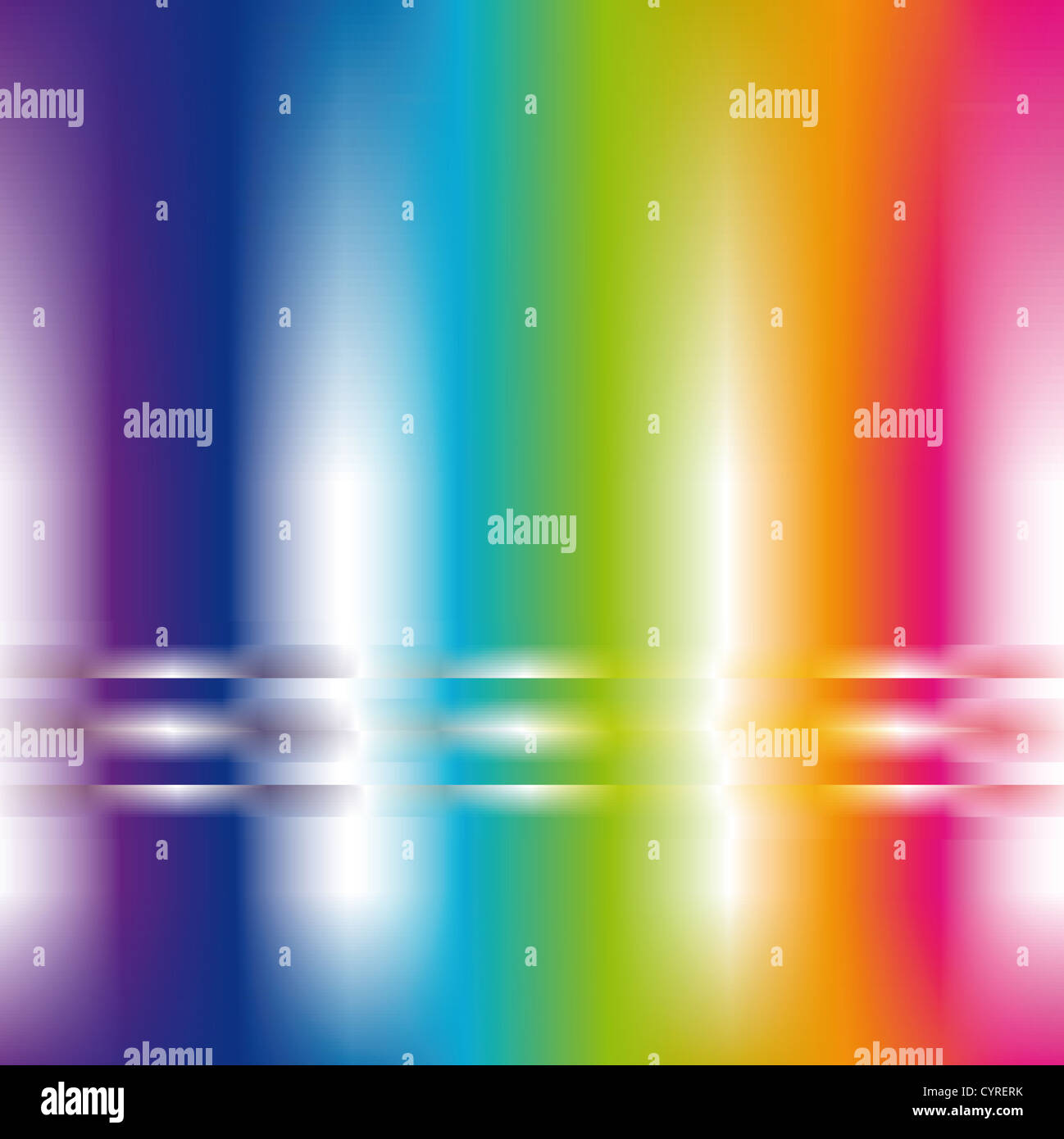 square abstract background in pastel rainbow colors - Stock Image