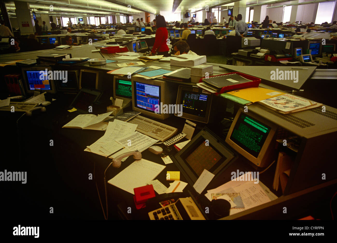 an-interior-of-office-desks-and-90s-comp