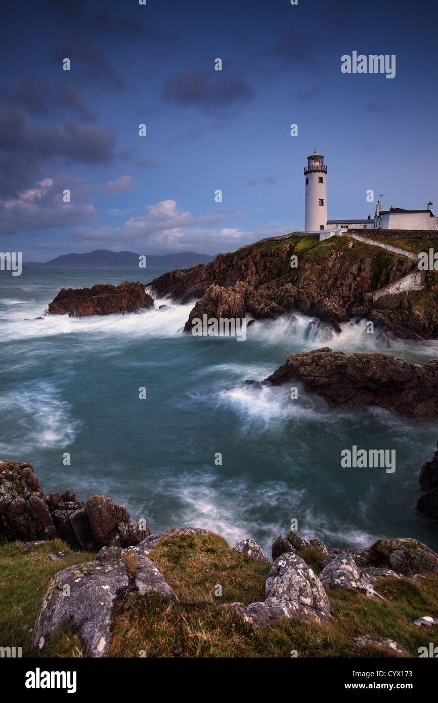 Night shot of Fanad lighthouse on the fanad peninsula,  County Donegal. - Stock Image