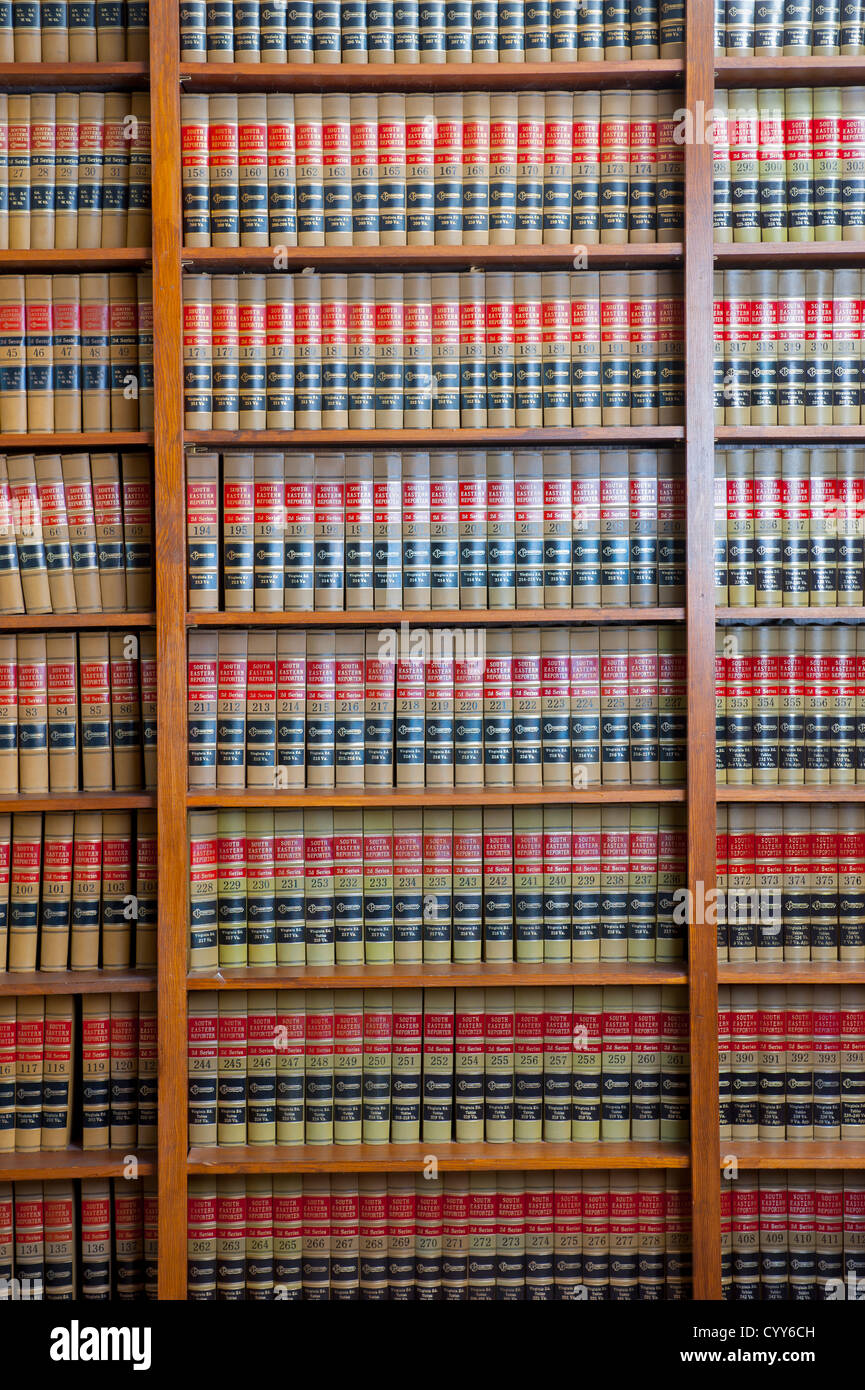 Law Library USA Legal books Stock Photo