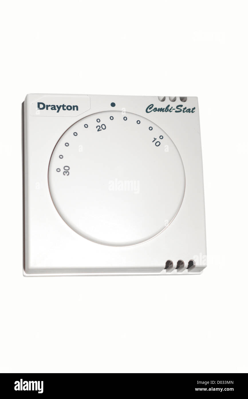 Central heating thermostat for a combination boiler Stock Photo ...