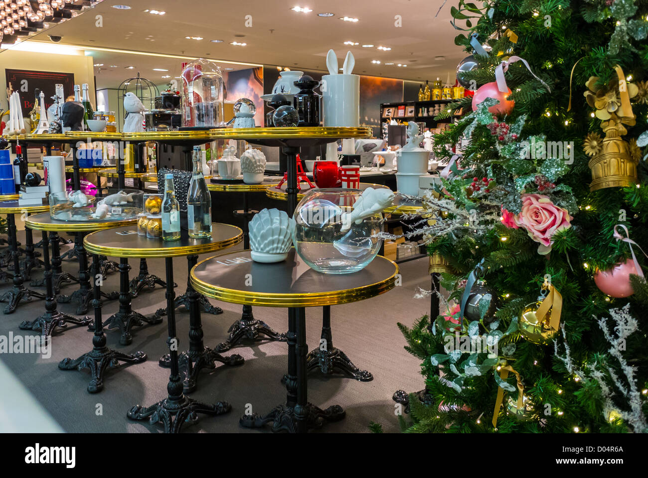 Paris, France, Christmas Shopping, French Department Store, Le Stock ...