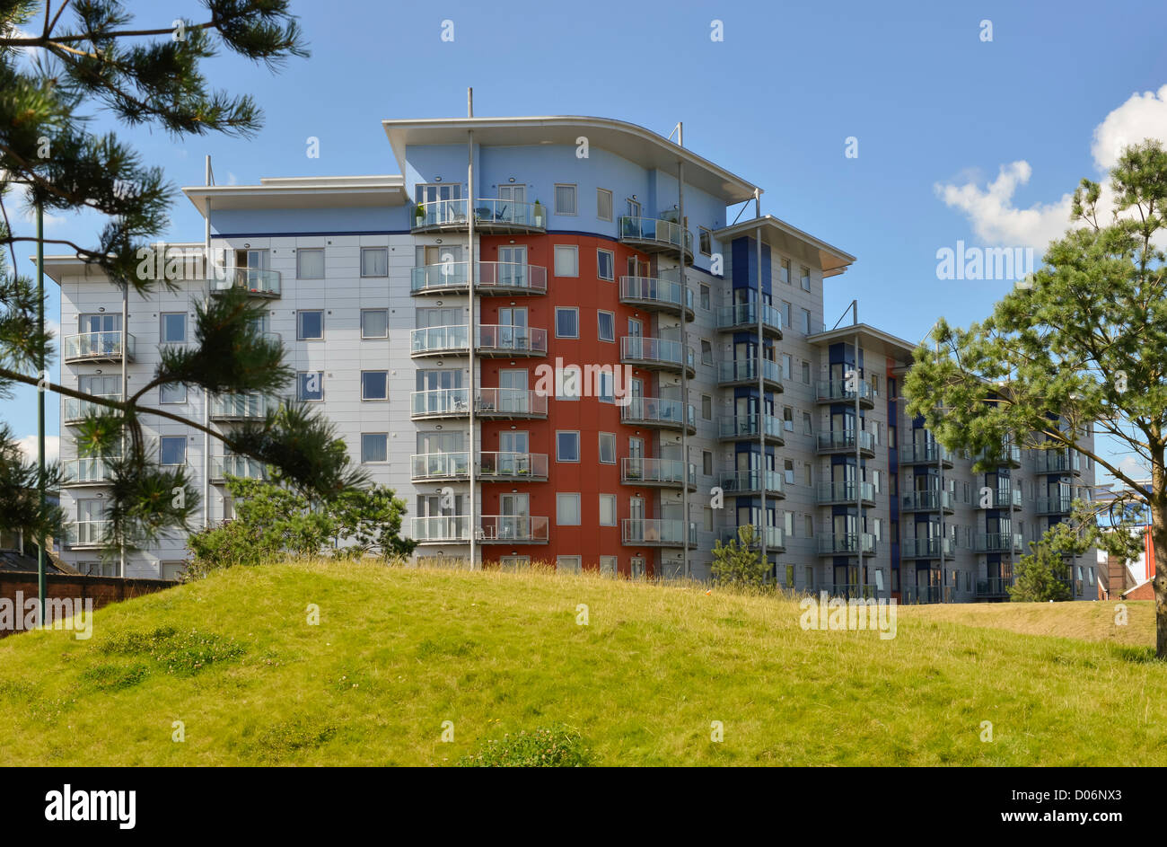 Apartments in Walsall, West Midlands - Stock Image